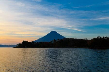 Ometepe vulcano Concepcion view in sunshine