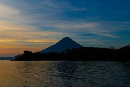 vulcano: Ometepe vulcano Concepcion view in sunshine