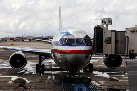 american airlines: American Airlines plane Editorial