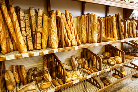 bread group from bakery Banque d'images