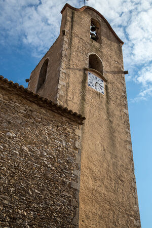 catholical: church street view from begur in costa brava Stock Photo