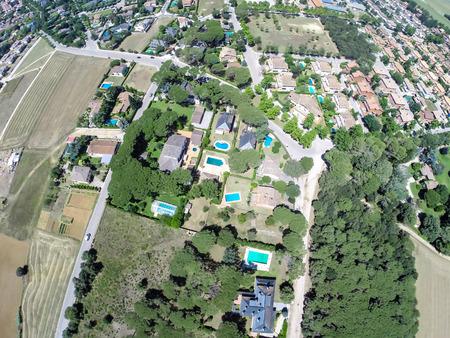cardedeu town aerial view photo