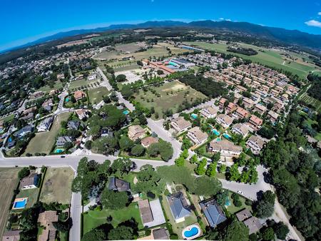 cardedeu town aerial view