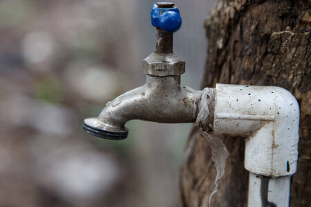 desalination: Water faucet close up photography Stock Photo