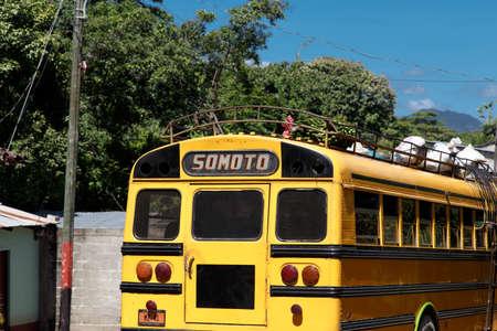 nicaraguan: Nicaraguan public bus from Somoto in Palacagüina, Nicaragua