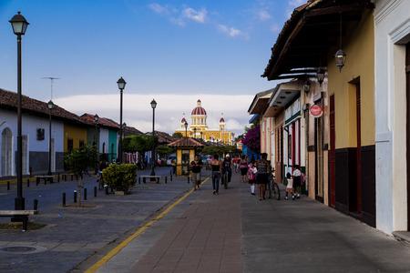 La calzada Street view from Granada Nicaragua