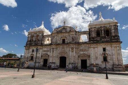 maximo: Cathedral on the central square of Leon, Nicaragua