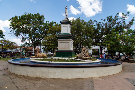 maximo: Leon Nicaragua, central park view with Cathedral at background