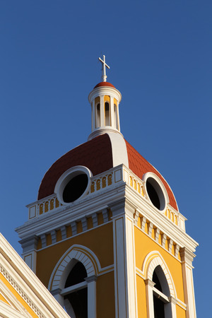 Cathedral view, Granada, Nicaragua, Central America. Banque d'images