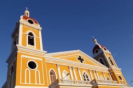 granada: Cathedral view, Granada, Nicaragua, Central America. Stock Photo