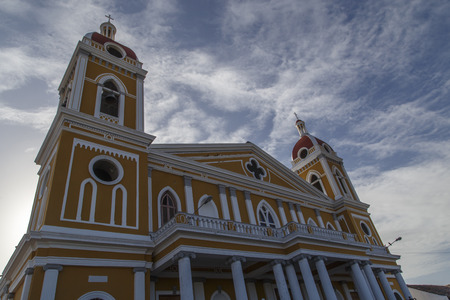 catholic mass: Cathedral of Granada, Outdoors view, Nicaragua, Central America.