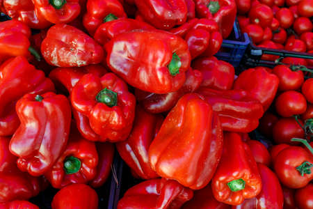 red peppers: raw red Peppers