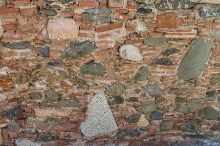 overbuilding: pattern texture muro di pietra Archivio Fotografico