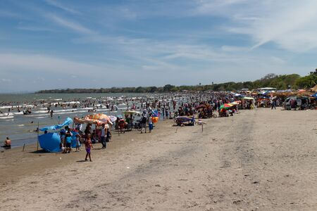 jorge: San Jorge beach port, in Nicaragua Editorial