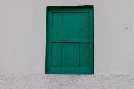 louver: green window