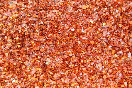 pepper flakes: Organic Spicy Red Pepper Flakes used for cooking Stock Photo