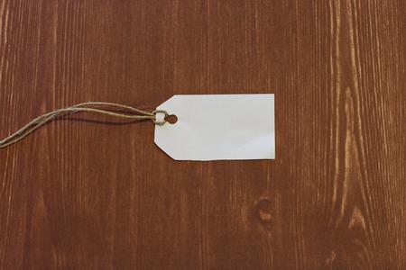 cruddy: white label isolated wood background Stock Photo