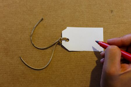 cruddy: hand writting label closeup