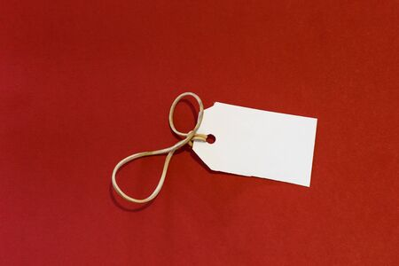 cruddy: white label isolated red background