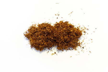 tobacco: tobacco pile isolated Stock Photo