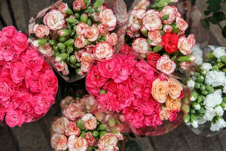 florists: colorful beautiful flowers from the florists shop Stock Photo