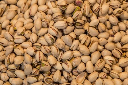 munch: pistachio group closeup from market