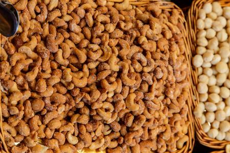 la boqueria: salted peanuts from la boqueria market, Barcelona
