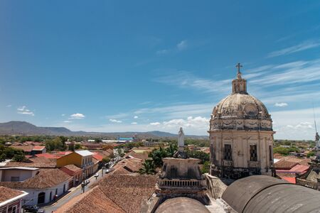 merced: Roof of the Iglesia La Merced, Granada, Nicaragua