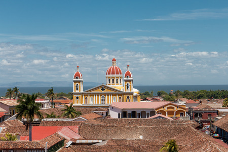 Granada, Nicaragua. View from La Merced Church Stock Photo