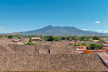 merced: Granada, Nicaragua. View from La Merced Church Stock Photo