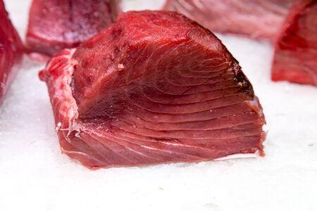 Fresh tuna fish in market