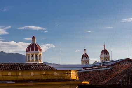 Cathedral view from granada, Nicaragua. typical touristic view