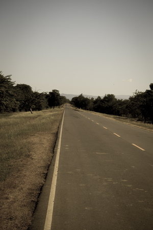 tar paper: old style view of road from Nicaragua