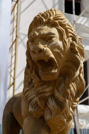 leon: statue Lion Cathedral of Leon Nicaragua Stock Photo
