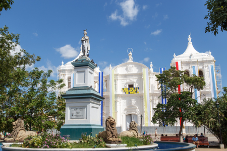 maximo: LEON, NICARAGUA, on December 9, 2015: Outdoors view of cathedral in Leon, Nicaragua. Editorial