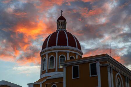 granada: Cathedral of Granada in Nicaragua