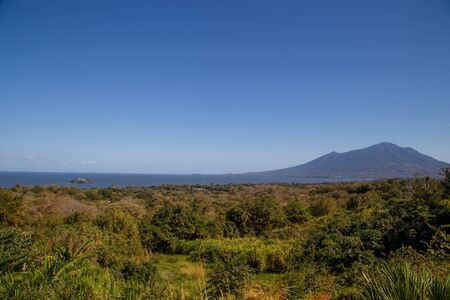 erupt: maderas volcano view from Ometepe Island, Nicaragua Stock Photo