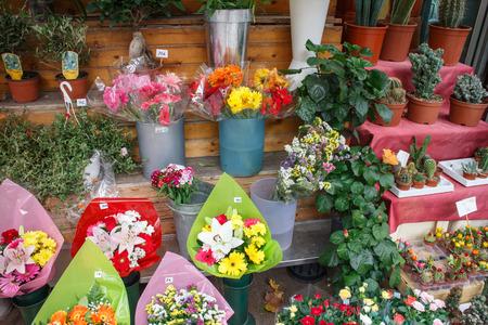 the ramblas: Flowers outside of flower shop in Las Ramblas, Barcelona