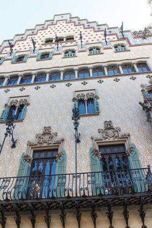 modernist: modernist building from Barcelona, Spain