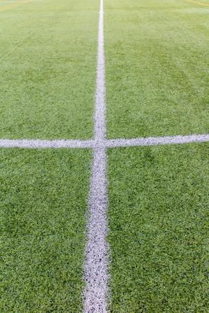 AFICIONADOS: Estadio de fútbol amateur con la hierba verde