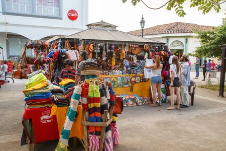handicrafts: Leon, Nicaragua, - December 14, 2015: souvenirs and handicrafts for tourist in central park. Daily scene Editorial