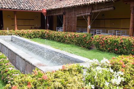 garden fountain: fountain from colonial garden Stock Photo