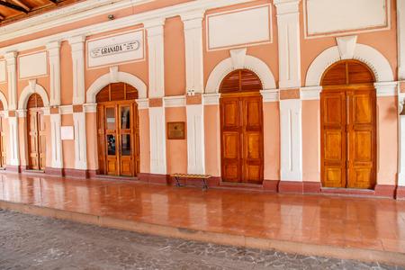 granada: Old railway station, Granada, Nicaragua, Central America Editorial