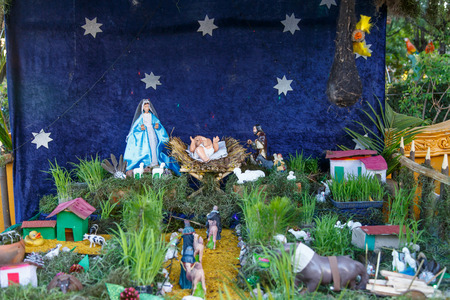 lamb of god: Creche Christmas closeup