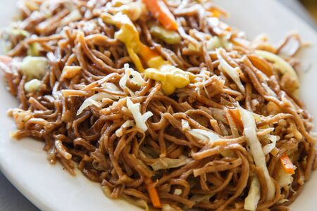 close up food: chinese noodles food close up