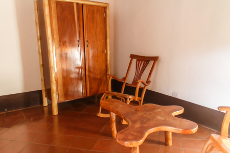 furniture: wood Furniture Stock Photo