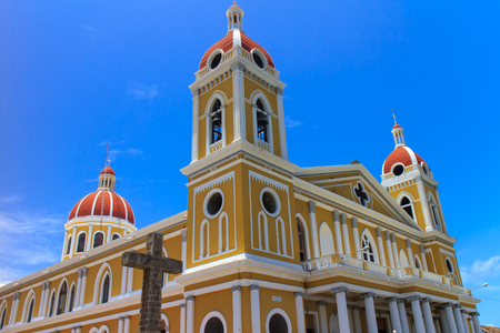 colonial church: Granada Nicaragua cathedral outdoors