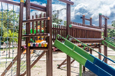 colorful slide: slide on the playground