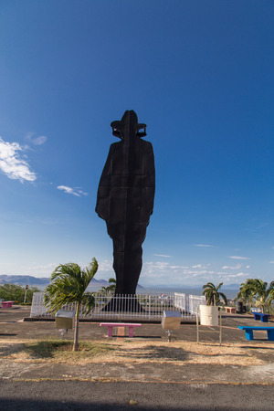 Statue of revolutionary leader Sandino in Tiscapa, Managua, Nicaragua