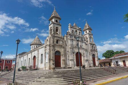 turistic: Guadalupe Church view in Granada, Nicaragua Stock Photo